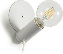 Kave Home - Lampe de table ou applique Danitz blanc