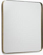 Kave Home - Miroir mural Marco métal doré 60 x