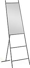 Kave Home - Miroir sur pied Norland métal noir 55