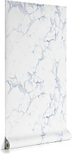Kave Home - Papier peint Marbela bleu 10 x 0,53 m