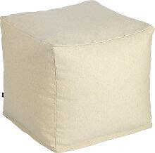 Kave Home - Pouf carré Nedra 50 x 50 cm beige