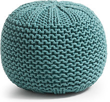 Kave Home - Pouf Shott Ø 50 cm turquoise