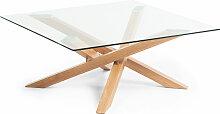 Kave Home - Table basse Kamido 90 x 90 cm plateau