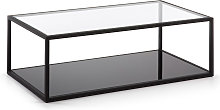 Kave Home - Table basse rectangulaire Blackhill