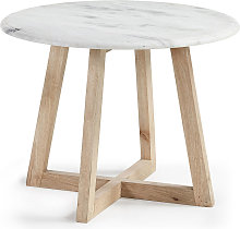 Kave Home - Table d'appoint Haylo blanche