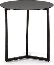 Kave Home - Table d'appoint Raeam Ø 50 cm noir