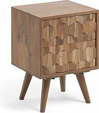 Kave Home - Table de chevet Khaleesi en acacia