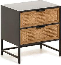 Kave Home - Table de chevet Kyoko 50 x 51 cm