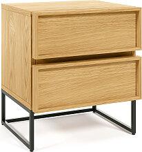 Kave Home - Table de chevet Taiana 45x51cm bois de