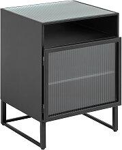 Kave Home - Table de chevet Trixie en acier noir
