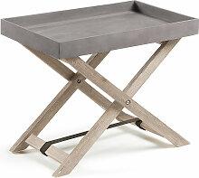 Kave Home - Table pliante Merida 55 x 35 cm