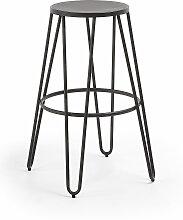 Kave Home - Tabouret de bar Madona hauteur 76 cm