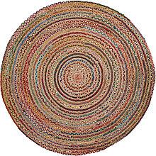 Kave Home - Tapis Saht Ø100 cm multicolore