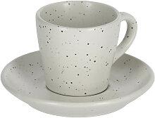 Kave Home - Tasse à café avec soucoupe Aratani