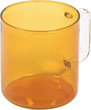 Kave Home - Tasse Coralie en verre orange et