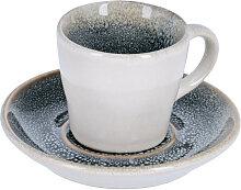 Kave Home - Tasse de café Sachi avec sous-tasse
