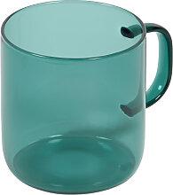 Kave Home - Tasse Morely en verre turquoise