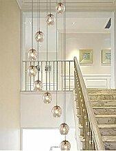 KBEST 10 Boules De Verre Spirale Lustre Escalier