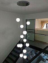 KBEST 12 Boules de Verre Lustre escalier Modernes