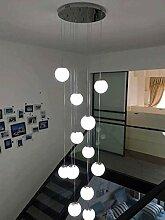 KBEST 15 Boules de Verre Escalier Lampes