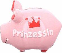 KCG Tirelire en céramique Princesses env. 12,5 cm