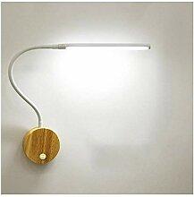 KDLAK Lampes de lecture à LED en bois créatives
