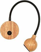 KDLAK Lampes de lecture LED modernes en bois avec