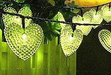 KEEDA Guirlande Lumineuses Solaire, 20 LED Coeur