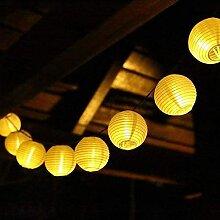 Kemini Guirlande lumineuse solaire - Lampion