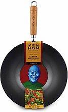 Ken Hom Classic KH331001 Wok en Acier Carbone avec