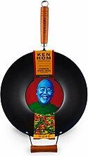 Ken Hom Classic KH335001 Wok en Acier Carbone avec