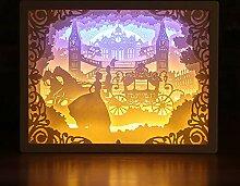 Kenyaw Papercut boîtes à lumière, Lampe de