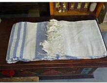 kerala dessus de lit indien de couleur pastel bleu
