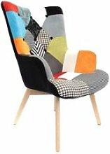 Kerava - fauteuil patchwork motifs colorés