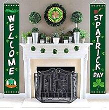 KEROTA Panneau de porche de la Saint-Patrick -