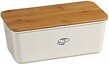 Kesper 18090 Boîte à pain en bambou et mélamine