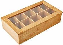 KESPER 58901 Box pour thé avec 10 Compartiments