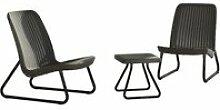 Keter mobilier de jardin 3 pcs rio graphite 224014