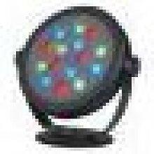 KETO RGB LED ROND, noir, 15x1W, IP65