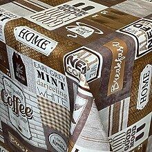 KEVKUS Nappe en toile cirée K168A Café thé
