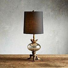 KGDC Lampe de Table Américain Pays Rétro Bois