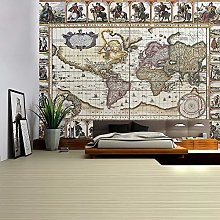KHKJ Carte du Monde Tapisserie Haute définition