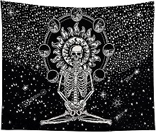 KHKJ Le crâne Image Tapisserie Tapisserie Murale