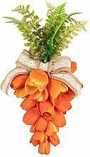 KI Store Couronne de tulipes orange - Décoration