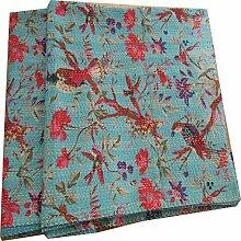 Kiara Couvre-lit indien vintage ethnique en coton