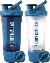 KICHLY [Pack de 2] Shaker proteines avec boule