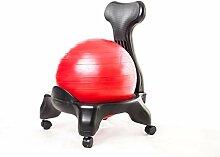 Kikka Active Chair Rouge, Chaise ergonomique avec