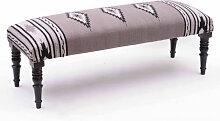 KILIM - Banc Baroque tissu coton