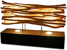 Kinaree Lampe de table en bois flotté - 60 cm -