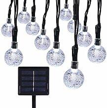 Kingcoo - Guirlande LED avec des globes - Étanche